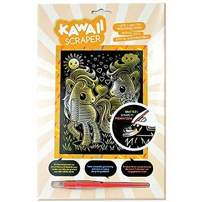 Sequin Art Kawaii Artfoil Ponies Kit, Gold: Toys & Games [5Bkhe1804429]