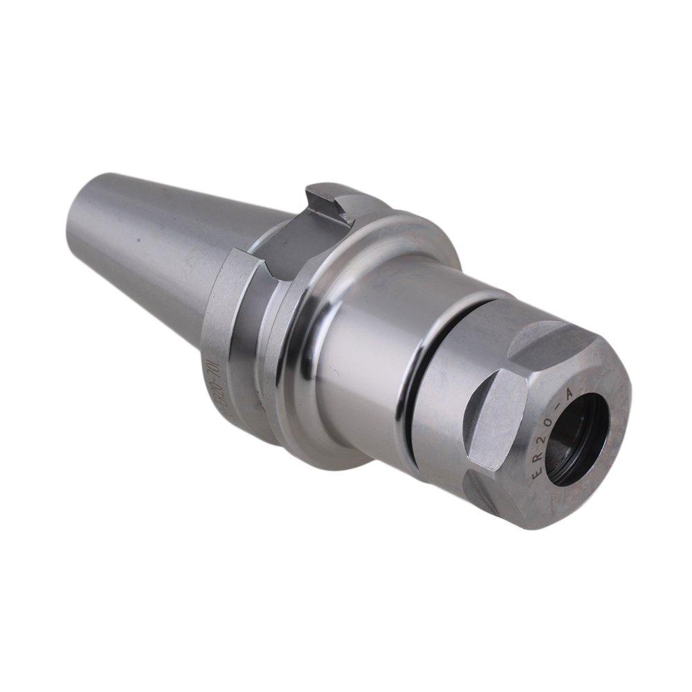 Mxfans High Precise BT30 ER20-70L CNC Milling Chuck Tool Holder Milling Silver blhlltd BLMN201806041409