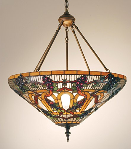 24 Inch W Jeweled Grape Inverted Pendant , Ceiling Fixture , Meyda