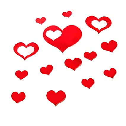 a8a506af70 Image Unavailable. Image not available for. Color: WINOMO 3D Love Heart  Wall Stickers ...