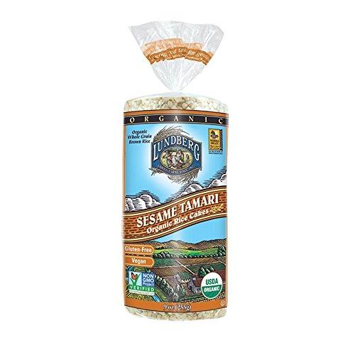 (Lundberg Family Farms Organic Sesame Tamari Rice Cake, 9-Ounce Units (Pack of 12))