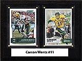 NCAA Men's Carson Wentz North Dakota State Bison Two Card Plaque, Brown, 6''X8''