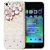 5c cases with gems - GEM Series 3D Bling Lacy Flower Design Case for Apple iPhone 5C