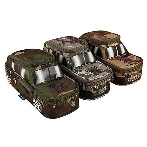 MMY-Jeep-Trousse Scolaire Sac de Crayon Stylo Maquillage Pochette Multi-usages Rangement Pour Bureau Ecole Pencil Case Pen Bag- couleur aléatoire
