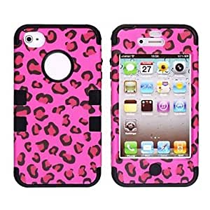 Leopard Style Protective Silicone Case for iPhone 4/4S (Assorted Colors) , Green