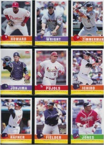 2006 Fleer Tradition Baseball Cards Complete Set (200 Cards) Including Albert Pujols, David Ortiz, Ichiro Suzuki, Roger Clemens, David Wright, Ryan Howard, Paul Konerko, Derek Jeter, Alex Rodriguez, Johan Santana, and dozens of other MLB superstars