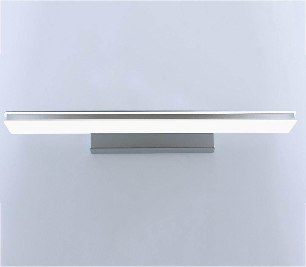 badezimmerlampe Led Mirror Front Light, Modern Badezimmer Wasserdicht Anti-Fog Badezimmer Spiegel Europäische Stil Make-up Lampe Wand Lampe (Farbe   Silber-80cm 15w led)