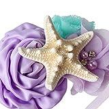YanJie Aqua Lavender Glitter Starfish Mermaid