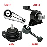 K858-04 : Fits 2004-2010 Chevrolet Optra 2.0L Engine Motor & Transmission Mount Set 4PCS 2004 2005 2006 2007 2008 2009 2010 A6841 A6842 A6844 A6843
