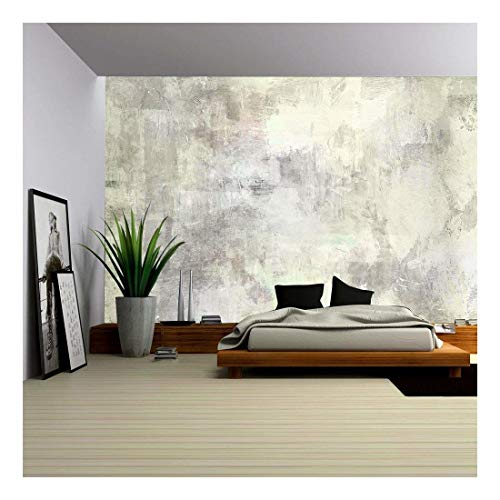 Lights Wallpaper Mural - wall26 - Art Abstract Acrylic Background in Light Grey and White Colors - Removable Wall Mural | Self-adhesive Large Wallpaper - 66x96 inches