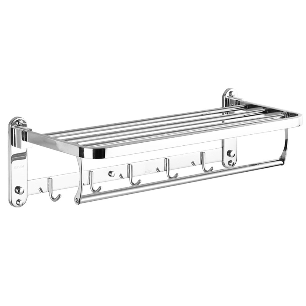 BHJqsy 304 Edelstahl Handtuchhalter Bad Regal Badezimmer Handtuchhalter Bad Hardware-Anhänger (größe   40cm)