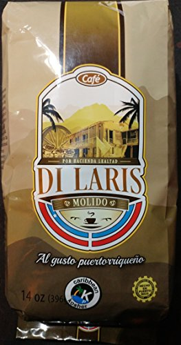 Cafe Di Laris Ground Coffee 14 Ounces - Includes Two Envelopes Of Sason Accent Seasoning