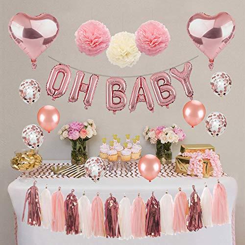 Kwayi Baby Shower Decoration Supplies. Girl Baby Shower