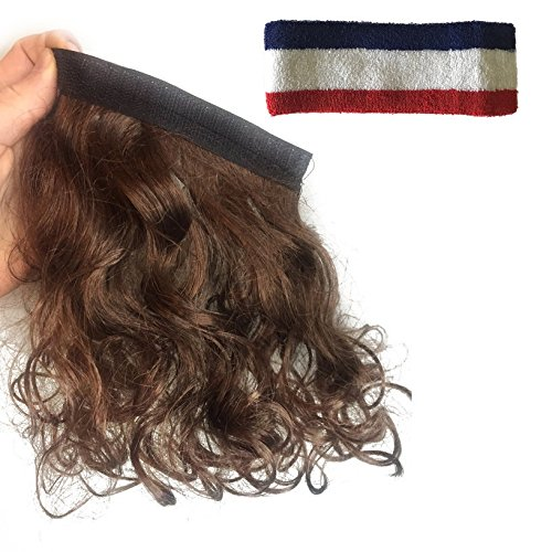 Mullet Headband Multi Purpose Removable Stick On Wig For All Costumes for $<!--$9.99-->
