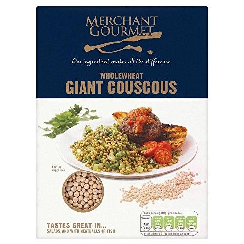 Merchant Gourmet Wholewheat Giant Couscous (300g) - Pack of 6 by Merchant Gourmet