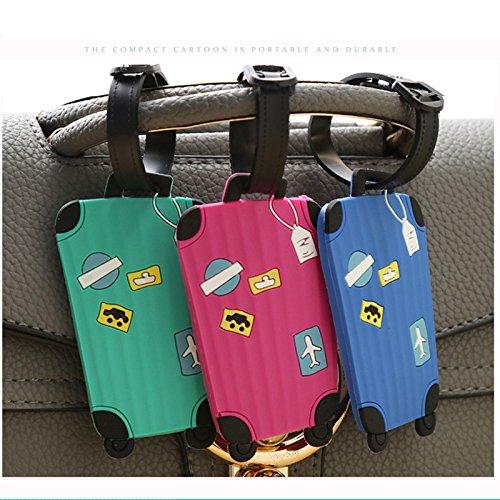 Westeng 5pcs /Étiquettes De Bagages En Silicone Motifs de Valise Cartoon /étiquettes /à bagages Pour Valise Multicolore Couleurs al/éatoires