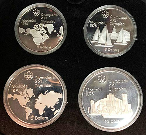 1976 Montreal Olympics $5 & $10 Sterling Silver Coins - Series 1 - Proof