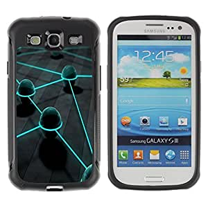 Suave TPU GEL Carcasa Funda Silicona Blando Estuche Caso de protección (para) Samsung Galaxy S3 III I9300 / CECELL Phone case / / Neon Eggs /