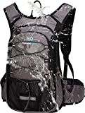 Mubasel Gear Insulated Hydration Backpack Pack with 2L BPA Free Bladder - Keeps Liquid Cool up to 4 Hours - for Running, Hiking, Cycling, Camping (Grey)