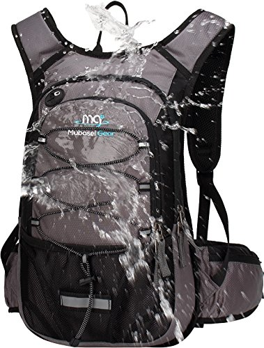 Mubasel Gear Insulated Hydration Backpack Pack with 2L BPA Free Bladder - Keeps Liquid Cool up to 4 Hours - for Running, Hiking, Cycling, Camping -