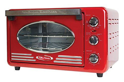 Nostalgia-RTOV220RETRORED-Retro-Series-6-Slice-Convection-Toaster-Oven