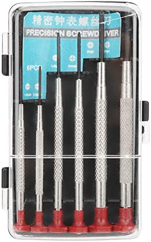 6個の小型精密ドライバーセット 時計付き携帯電話修理ツール用 スロット付き交差ビット精密ドライバーセット マイクロ精密ドライバーセット