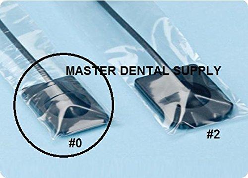 "Dental X-Ray Digital Sensor Sleeves Cover #0 1 3/8"" X 8"" SMALL Size 500 Pcs/box CLEAR"