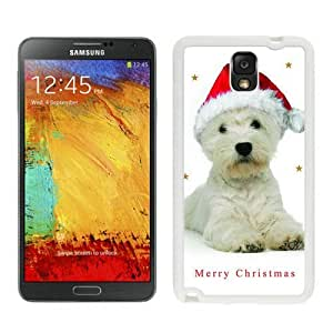 Custom-ized Phone Case Christmas Dog White Samsung Galaxy Note 3 Case 2