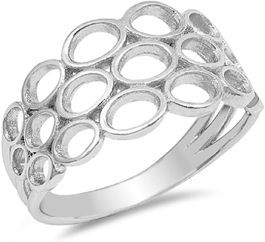 CloseoutWarehouse Sterling Silver Double Braided Spinner Ring