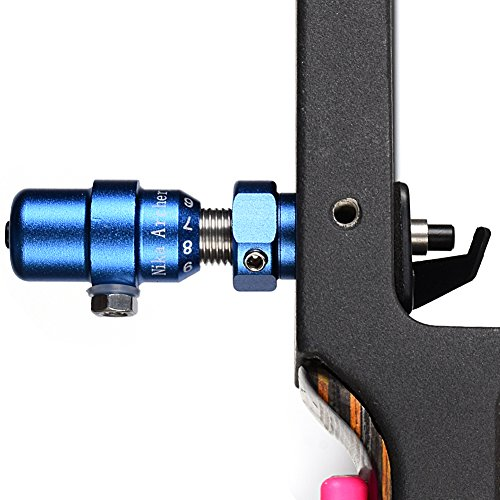(Huang gui Archery Cushion Plunger Recurve Bows Screw-on Pressure Button with Installation Tool (Color Blue))