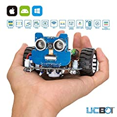 UCBOT is a compact yet powerful smart robot from UCTRONICS. We hope it can Inspire your kids to get great ideas, grow their interests in science and engineering, and become their best robot friend.Package Including 1pcs ESP32 Module 1pcs Head...
