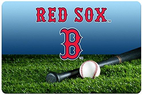 GameWear Boston Red Sox Baseball Pet Bowl Mat, - Red Gamewear Boston Baseball Sox