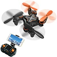 Mini Foldable Quadcopter RC Drone FPV VR Wifi with HD Camera AMENON 2-Speed Swtich Headless Mode Helicopter 2.4GHz 4CH 6 Axis Gyro Compatible Android IOS VR Headset Helicopter