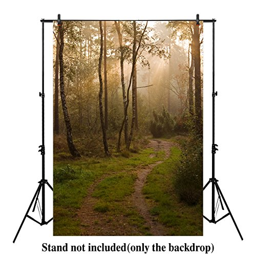 Digital Trail Camera Reviews - Allenjoy 5x7ft Woods Backdrop green woodsy scene Fairy tale Where the Wild Things Are forest Trail Photography Background photo booth prop