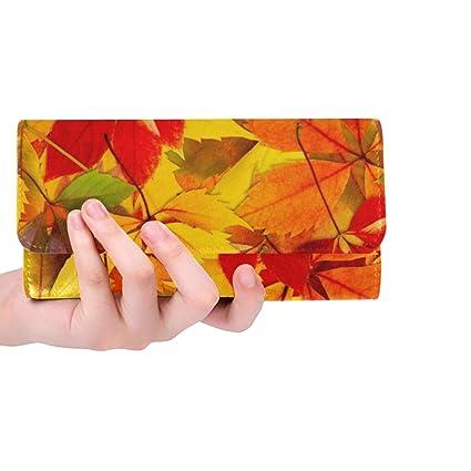 Único Personalizado otoño otoño Hojas Textura Mujer Cartera ...