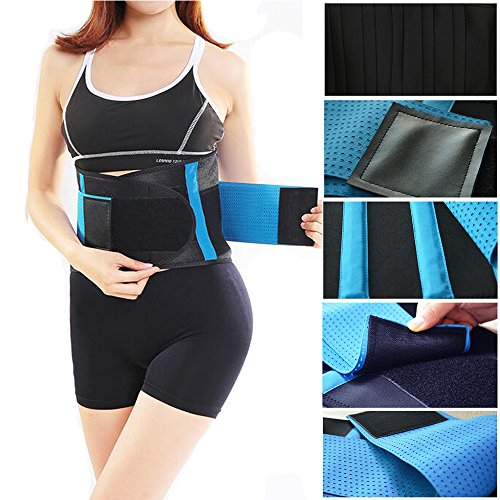 Lumbar Lower Back Brace and Support Belt with Dual Adjustable Straps and Breathable Mesh Panels - Relieves Lower Back Pain Naturally for Men and Women-L
