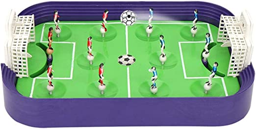 RecoverLOVE Mesa Mini Fútbol Foosball Dedo Competición Niños Juego de fútbol Juguetes con Portero móvil, Juego de Tablero de eyección con los Dedos para la acción de fútbol: Amazon.es: Hogar