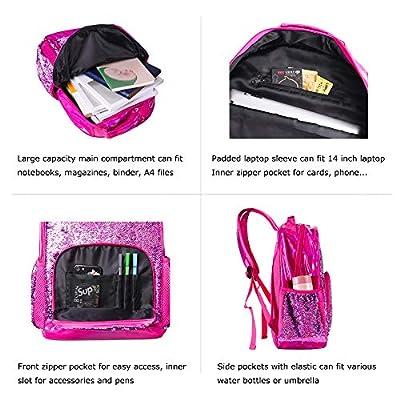 Sequin Backpack for Girls Kids Cute Elementary School Book Bag Teen Glitter Flip Sparkly Holographic Back Pack Orchid   Kids' Backpacks