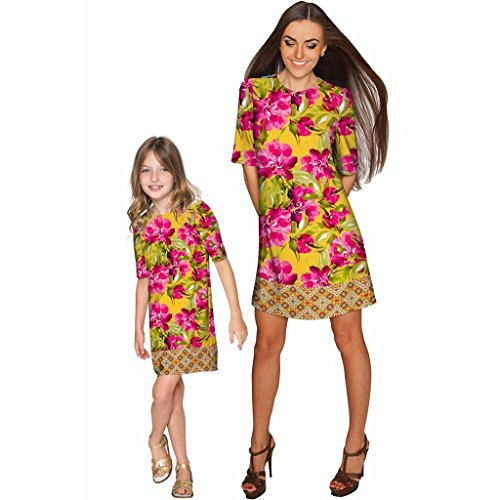 Derby Clothes Indian Summer Grace Shift Floral Mother and Daughter Dress by Derby Clothes