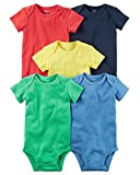 Carter's Baby Boys' 5 Pack Bodysuits (Baby) Bright Solid, 18 Months