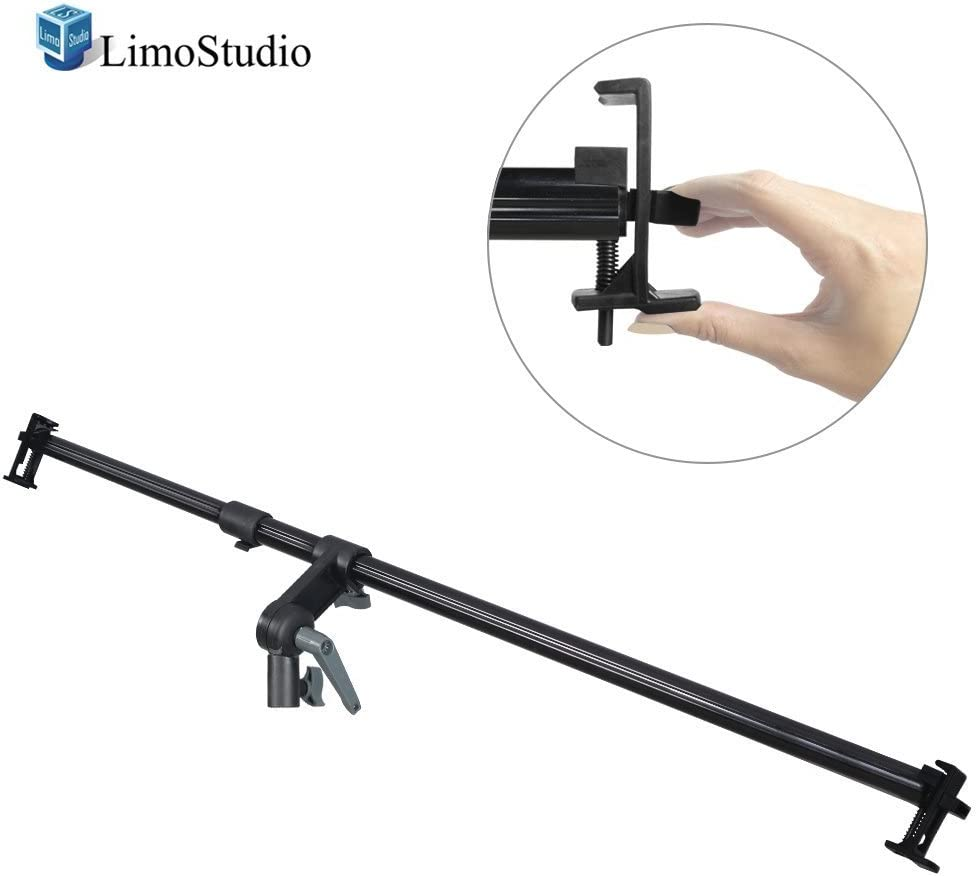 Photo Studio AGG2056 Easy Spring Clip Install Mount on The Light Stand Tripod LimoStudio 26-48 inch Swivel Head Reflector Arm Support Holder