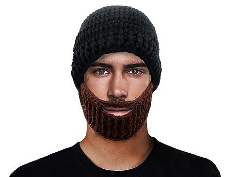 f22524f0 GIANCOMICS Black Wacky Beard Hat Knit Funny Crochet Beanie Cap Wind Mask  HM200