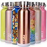Rehydrate Pro (Copper-25oz Double-Insulated Stainless Steel Water Vacuum Bottle - BPA Free 25 Oz-for Hot or Cold Drinks + Bonus 'Flip N Sip' Sports Cap Included. Envirornmentally Friendly Packing