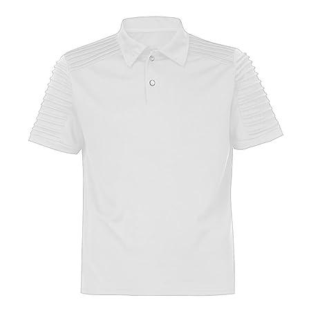 Camiseta Tops de los Hombres Manga Corta Delgado Ropa de Deportes,SonnenaLa Moda de los Hombres de la Personalidad Informal Delgada Camisa de Manga Corta ...