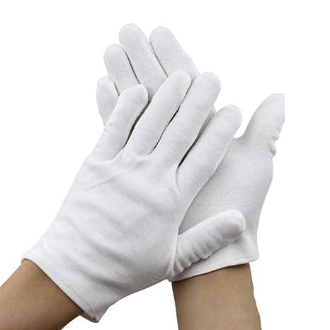 Amazon.com: 12 pares de guantes de algodón suave ...