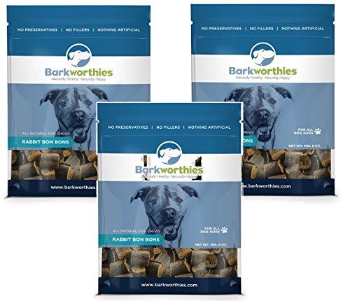 Image of (3-Pack) Barkworthies Rabbit Bon Bons 8-Ounces each