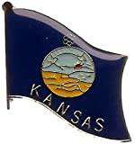 ALBATROS Pack of 24 State of Kansas Flag Lapel Pin for Bike Hat and Cap for Home and Parades, Official Party, All Weather Indoors Outdoors
