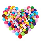 BENECREAT 1 Box(400pcs) Pom Poms Craft Making Assorted Sizes & Colors High-elastic Good Quality Pom Poms Creative Craft DIY Material