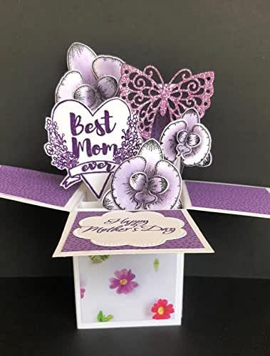 Amazon.com: Pop up card for mom, elegant Mothers Day card