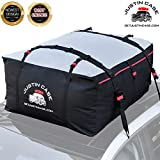 JustinCase Rooftop Cargo Carrier Bag – 19 Cubic Feet – Heavy Duty, Waterproof Car Top Carrier for Extra Car Roof Storage – Roof Bag Straps & Hooks Included, Works Without Luggage Rack or Side Rails